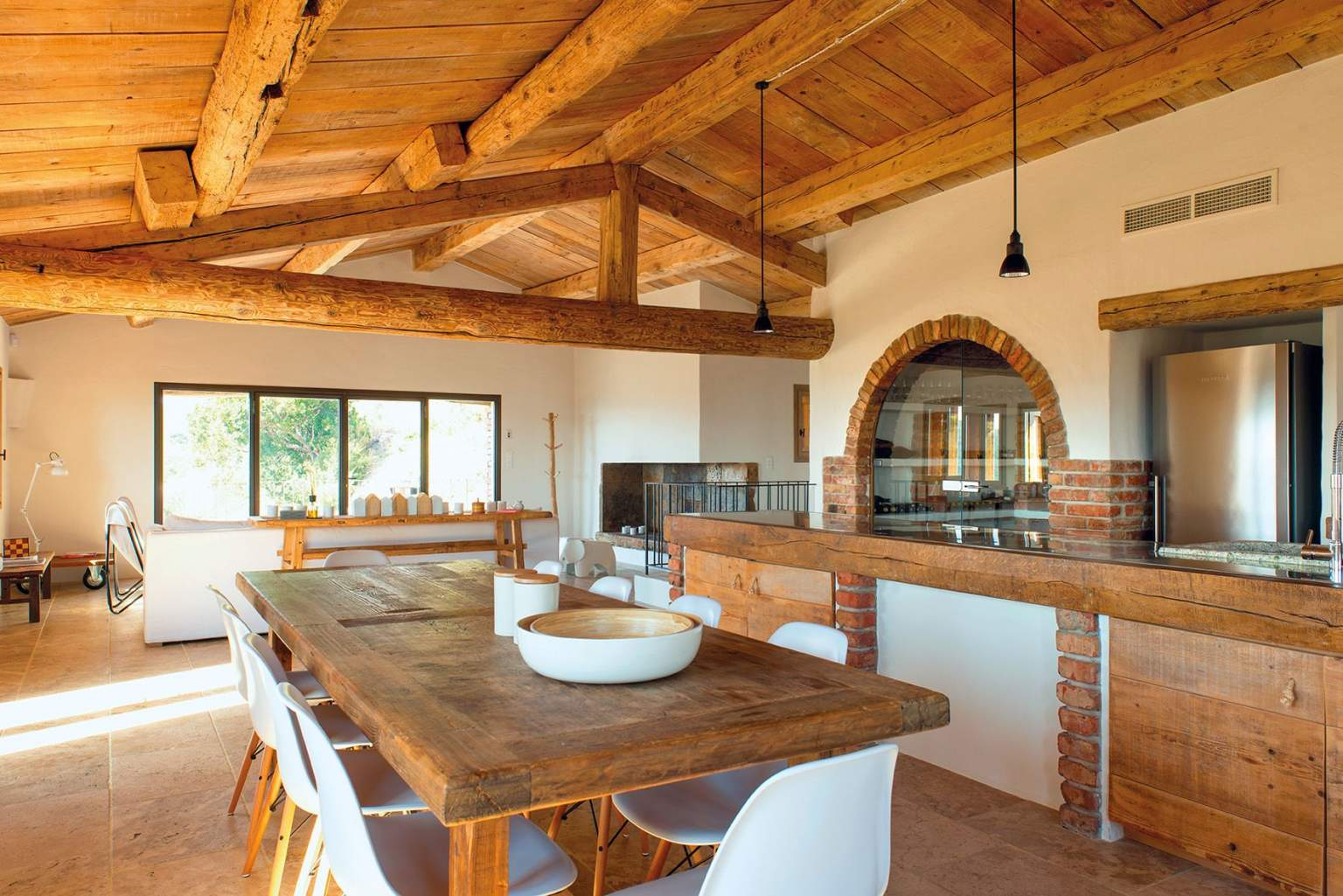 Stone and wood interiors